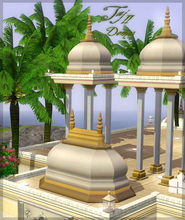 Sims 3 — Taj domes - Part II. by senemm — A set of 7 different sized indian/arabian style domes. (sizes: 2x2, 2x2 tall,
