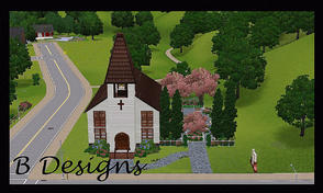 Sims 3 — B Designs 22 Chapel by littleb920 — B Designs 22 Chapel. The Chapel is the perfect place for your Sim who wants