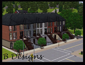 Sims 3 — B Designs 24 Upper West Side Brownstone by littleb920 — B Designs 24 Upper West Side Brownstone is a little