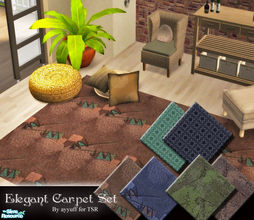Sims 2 — Elegant Carpet Set by ayyuff — Included:6 carpets