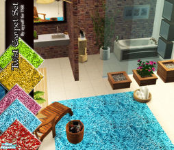 Sims 2 — Twist Carpet Set by ayyuff — Included:5 carpets