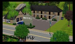 Sims 3 — B Designs 25 Motel by littleb920 — B Designs 25 Motel is the perfect place for your Sim visiting a friend on the