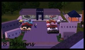 Sims 3 — B Designs 27 Car Dealership by littleb920 — B Designs 27 Car Dealership is a community lot that's mostly just