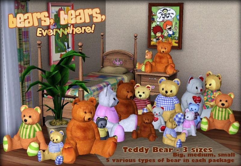 Sims2sisters S2s Teddy Bears