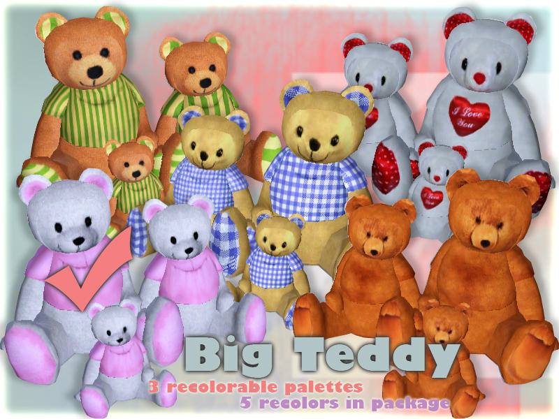 Sims2sisters S2S Teddy Bear Big