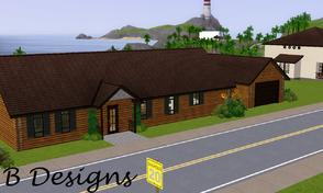 Sims 3 — B Designs 28 Log Home by littleb920 — B Designs 28 Log Home is a replica of my real home. This home comes with
