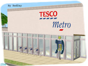 Sims 2 — Tesco Metro by BadDay — Open 24 hours for all your grocery needs, Tesco is fully stocked with many popular