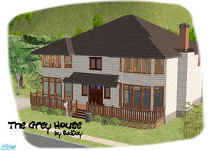 Sims 2 — The Grey House by BadDay — A wonderful traditional Connecticut house for a large, or growing family. With 4