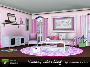 Sims 3 — Shabby Chic Living by TheNumbersWoman —