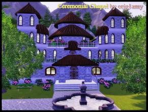 Sims 3 — Ceremonial Сhapel by orig1amy — It will fit a lot of guests and more space will remain. For weddings,