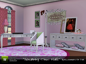 Sims 3 — Shabby Chic Hall by TheNumbersWoman — Continuing the series with a hallway. Little bits and pieces you can use