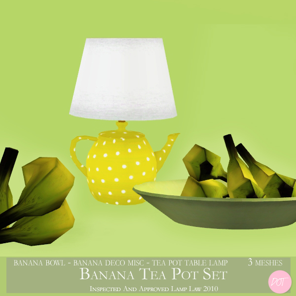 The Sims Resource Elegant Bathroom: DOT's Banana Tea Pot Lamp Set