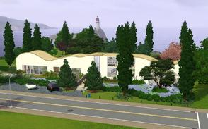 Sims 3 — The Waves Estate by Anakin_Stupaine — Enormous curved ceilings and a massive garden, you'll find it on this 60