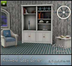 Sims 3 — Richmond Cozy Corner by Shakeshaft — The Richmond Cozy Corner set ideal for coastal living, set includes a