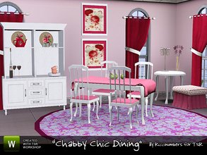 Sims 3 — Shabby Chic Dining by TheNumbersWoman — The diningroom. A nice dining area for your Chic design.