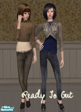 Sims 2 — Ready To Out by Pretale — Two diferent styles, outwear.