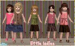 Sims 2 — Little Ladies by Pretale — A set of 5 dresses for your toddler girls :)