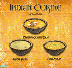 Sims 2 — Indian Cuisine - Soups by Simaddict99 — My 2nd of my Indian Cuisine sets consists of soups. Set includes: a