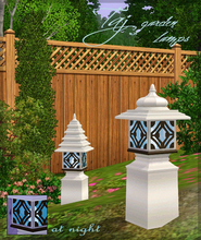 Sims 3 — Taj garden lamps by senemm — A set of 2 unique eastern style garden lamps, indian and chinese features. 2
