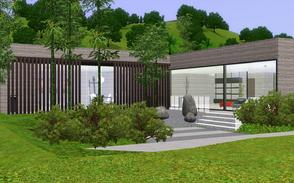 Sims 3 — CF  House by BrooksHalten — A clean, crisp Eastern - tropical modern home that perfect for a newlywed couple.
