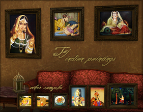 Sims 3 — Taj indian paintings by senemm — A set of 9 unique indian paintings.