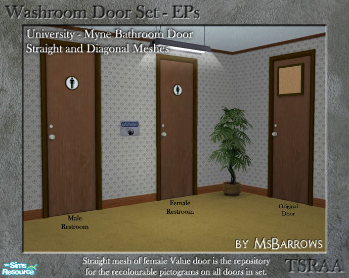 Washroom Door ... & MsBarrowsu0027 Washroom Door EP Set - Uni - Myne Door - FD
