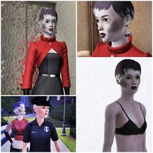 Sims 3 — Elly Ludoedka by orig1amy — Strange women - Dr. Evil. She is unhealthy skinny skeleton.