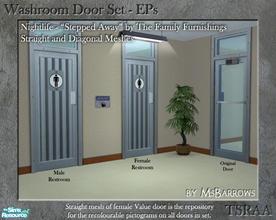 Washroom Door EP Set - NL - Shop. & Downloads / Sims 2 / Objects / Build Mode / Doors - u0027bathroomu0027 pezcame.com