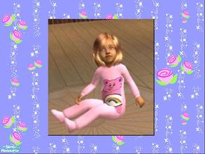 Sims 2 — Cheer bear pyjamas by melaniecox — Carrying on with my care bear theme, her are some cheer bear pjs for your