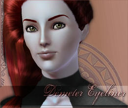 Sims 3 — Demeter Eyeliner by flinn — A subtle everyday eyeliner with lashes.