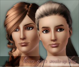 Sims 3 — Every girls make-up bag by flinn — Two eyeliners and lip balm are a good start for any girl.