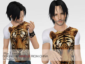 Sims 3 —  Men T shirt 001 by mars lee by kerm_2046 —  Men T shirt 001 by mars lee