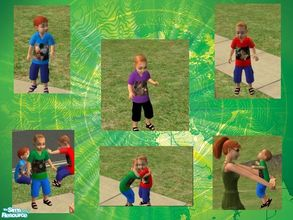 Sims 2 — The wizard of oz toddler collection1 by melaniecox — Here are 4 little boy toddler outfits, with a wizard of Oz