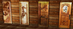 Sims 3 — CARVED DOORS by abuk0 — CARVED DOORS