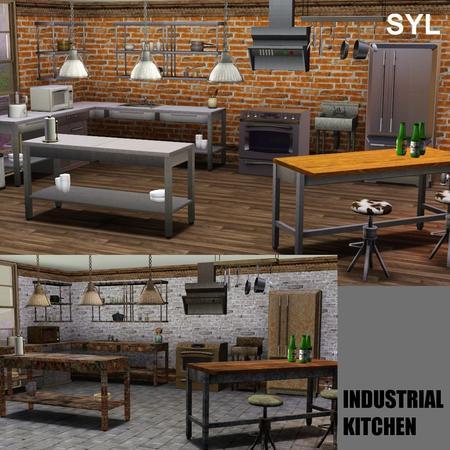 Industrial Kitchen Set Sims  Free