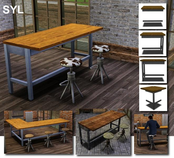 Sims Stuff 4 Kitchen: Eryt96's Industrial Counter Island