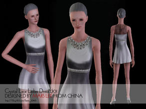 Sims 3 — Crystal Lace Ladies Dress by mars by kerm_2046 — Crystal Lace Ladies Dress by mars