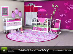 Sims 3 — Shabby Chic Nursery by TheNumbersWoman — The nursery. Includes one variation for boys or neutral gender. A Big