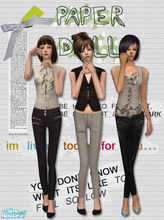 Sims 2 — Paper Dolls by Pretale — Three female outfits, everyday. Enjoy it.