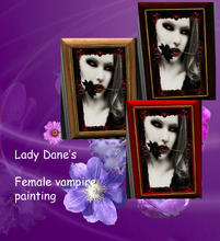 Sims 3 — vampire female Painting  by Lady_Dane — A Painting of a female vampire with flower in her mouth.