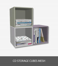 Sims 3 — Emma Bedroom CD Storage by Living Dead Girl — Compact disc storage cubes with three designable parts.