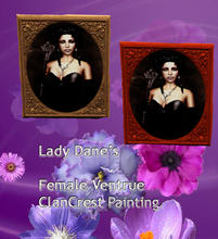 Sims 3 — Female Ventrue clancrest painting V1 by Lady_Dane — the painting shows, a female vampire from the clan, Ventrue.