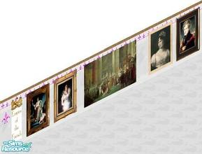 Sims 1 — First Empire Set by carriep — Includes: Paintings(7), Wall
