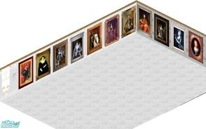 Sims 1 — Bourbon Set by carriep — Includes: 12 Paintings, Lamp, Wall