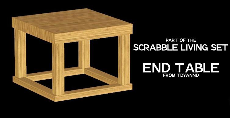 Terrific Tdyannds Scrabble Living Set End Table Uwap Interior Chair Design Uwaporg