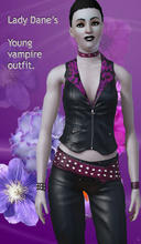 Sims 3 — Young vampire outfit. by Lady_Dane — a outfit in black and dark purple colors.