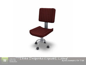 Sims 3 — Ikea Expidet Living Chair by TheNumbersWoman — Chair for the livingroom desk. By RicciNumbers at TSR.