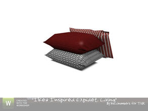 Sims 3 — Ikea Expidet Living Chair Pillows by TheNumbersWoman — Stack of pilllows for your Sim to get comfy. By
