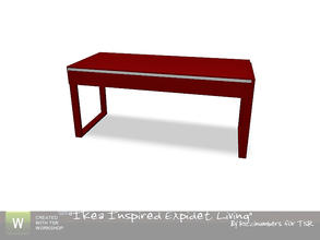 Sims 3 — Ikea Expidet Living Desk by TheNumbersWoman — Inspired by Ikea, made for you by RicciNumbers at TSR.