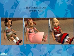 Sims 2 — The wizard Of Oz toddler dresses collection by melaniecox — A delightful set of 3 preety toddler dresses, all